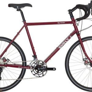 Surly Disc Trucker bici completa 26 Powercoated Maroon - Surly